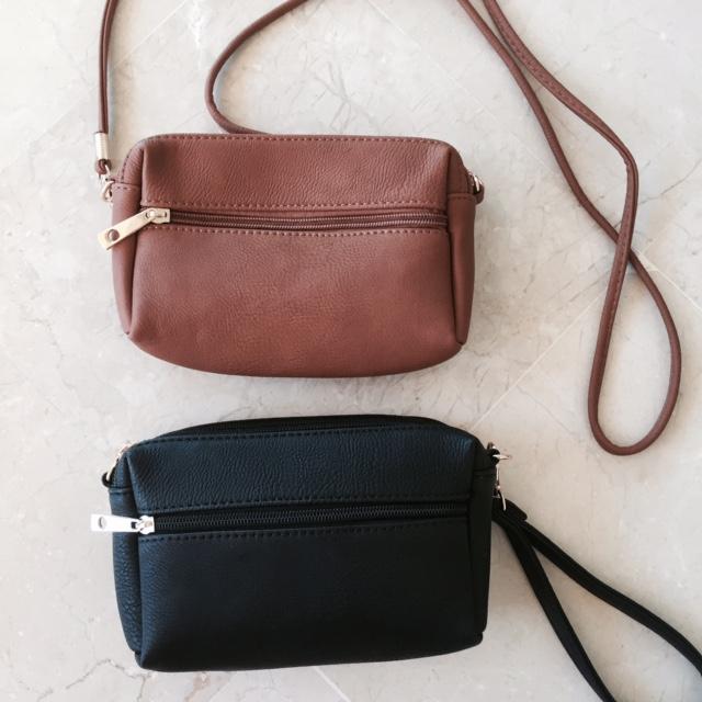 clutch taske med skulderrem