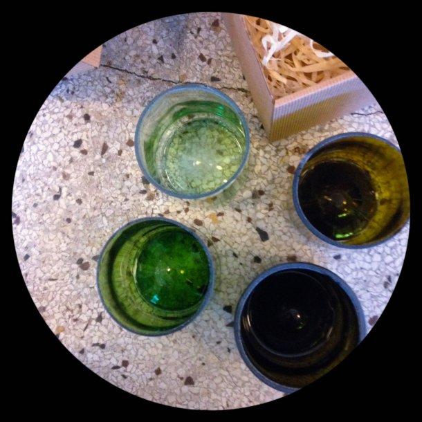 Flaske glas 4 stk recycle