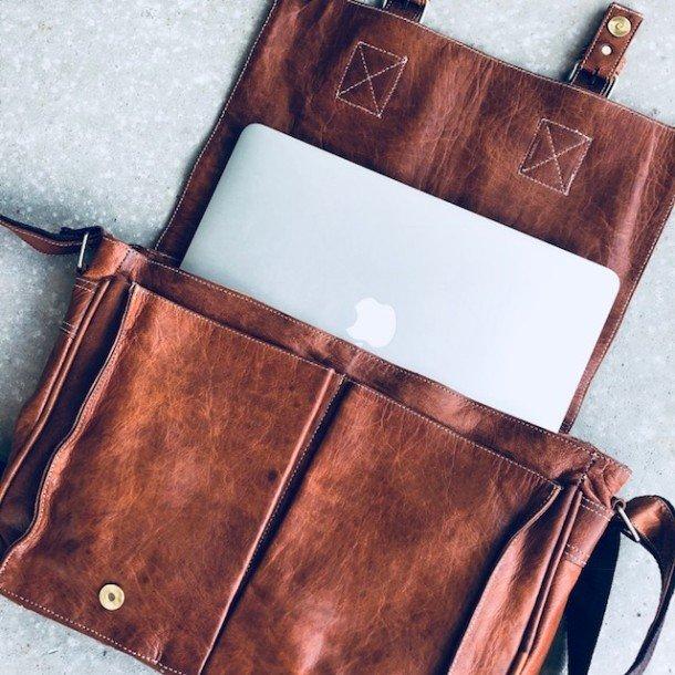 Skole Computer taske <br/>kernelæder