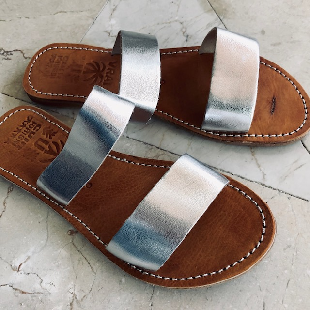 f2969eb44a09 Sandal Paris  br  kernelæder - sølv - Sandaler - COW CONCEPT