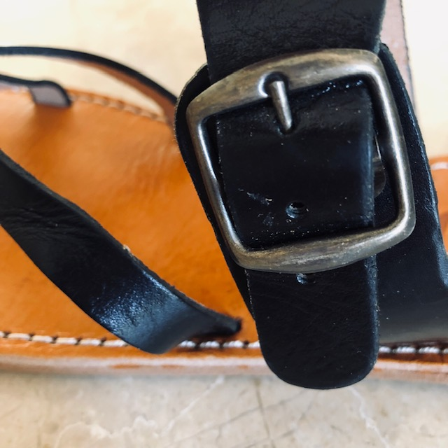 sandal Stockholm kernelæder sort Sandaler COW CONCEPT