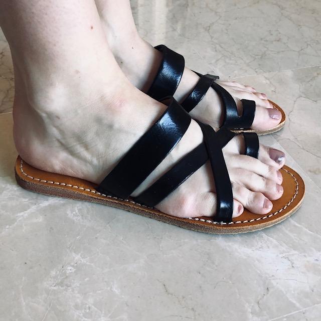f221dabf0333 Sandal Milano  br  kernelæder - sort - Sandaler - COW CONCEPT